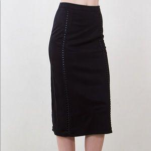 Faux Suede Pencil Skirt